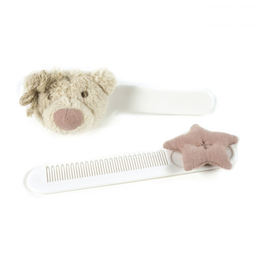 Pasito a Pasito Set of Brush and Comb, Pink Amelie