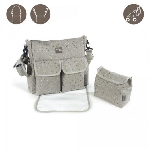 Pasito a Pasito Changing Bag, Confetti Grey