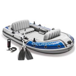 Intex - Excursiont TM 4 Boat Sets (With 54 Aluminum Oars, 68614), (315 cm x 165 cm x 43 cm)