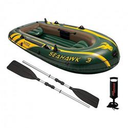 "Intex - Sea Hawk TM 3 Boat Sets (With 48"" Aluminum oars, 68614) , 290 cm x 135 cm x 42.5 cm"