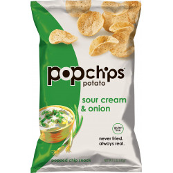 Popchips Potato, Sour Cream & Onion, 142g