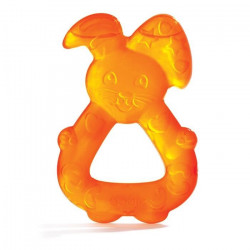 Dodie Refrigerated Teething Ring, Orange Bunny