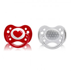 Dodie Pacifiers & Soothers +6 months - Pack Of Two - Different Colors