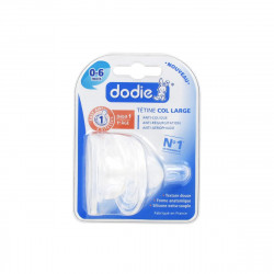 Dodie 2 Silicone Large Neck Teats 0-6 months, 3 Flows