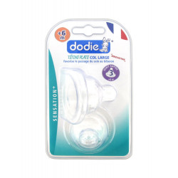 Dodie Col Large Flat Wide Neck Teat +6 months