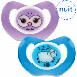 Dodie Pacifier & Night Soother +18 months, Different Colors, X1