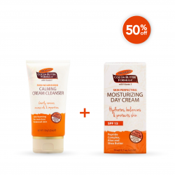 Palmer's Weekend Offer ( Formula Skin Perfecting Moisturizing Day Cream With SPF 15 + Calming Cream Cleanser )