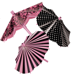 Amscan - A Day In Paris Parasol Decorations X3 pieces