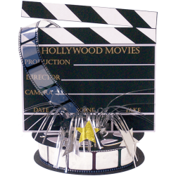 Amscan - Hollywood Clapboard Centerpiece Decoration Oscars Movie Party