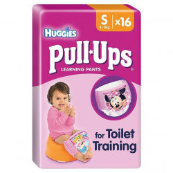Huggies Pull-Ups Girls Size S (8-15kg) 16 Pants