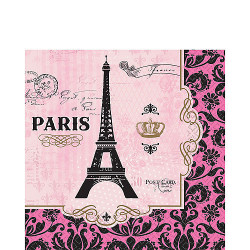 Amscan - A Day In Paris Birthday Party Disposable Lunch Napkins X16 pieces