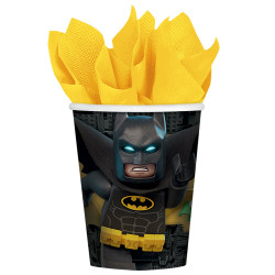 Amscan Lego Batman Movie Paper Cups 266ml X8 Cups