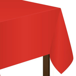 Amscan - Rectangular Apple Red Plastic Table Cover