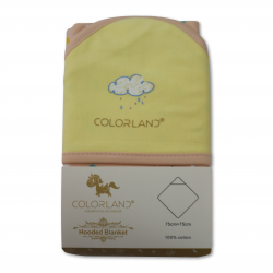 Colorland Dylan Baby Hooded Blanket - Colorful Cloud 1 Pc Per Pack