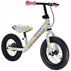 Kiddimoto SJM4 Super Junior Max Balance Bike - Pastel Dotty