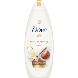 Dove Purely Pampering Shea Butter Caring Cream Bath 500ml (Made in Britain).