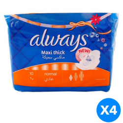 Always Maxi Thick Sanitary Pads X4 Packs