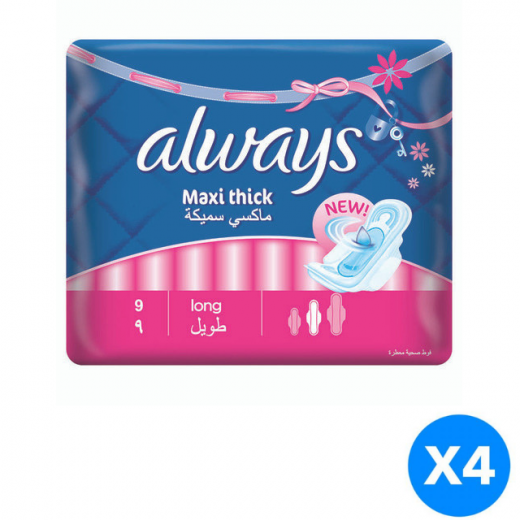 Always Maxi Thick - Long Pads X4 Packs