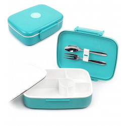 Look Back - Double Wall 5 Compartments With Cutlery - Blue