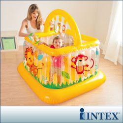 Intex - Soft Side Lil Baby Gym Pagar Main & Mainan Trampolin Anak Bayi