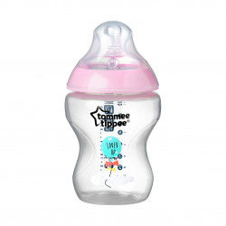 Tommee Tippee Closer to Nature Baby Bottle Decorated for Girl, 260ml