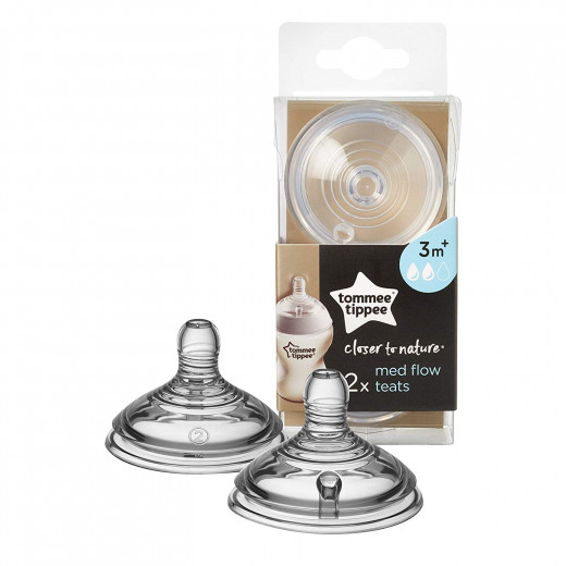 Tommee Tippee Closer to Nature Medium Flow Teats x2