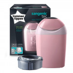 Tommee Tippee Sangenic Nappy Disposal Tub, Whisper Pink