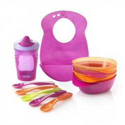 Tommee Tippee Explora Feeding Kit Including Bib, Pink