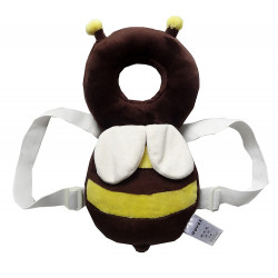 JJ Ovce Baby Head Protector, Brown Bee