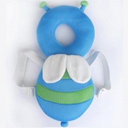 JJ Ovce Baby Head Protector, Blue Bee