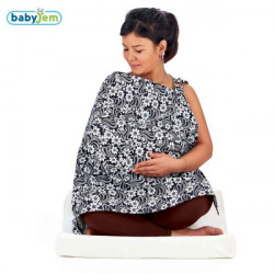 Babyjem Nursing Cover with Bocket, Black