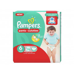 Pampers Pants Culottes Size 6 (16+ KG) Extra Large 24 Counts