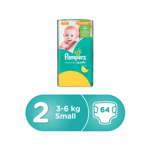 Pampers Diapers Size 2 (3-6 KG) Small 64 Counts