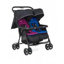 Joie - Aire Twin Stroller - Rosy / Sea