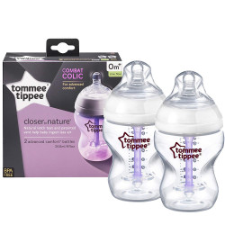 Tommee Tippee Advanced Comfort Bottles X2, 260 ml
