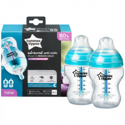 Tommee Tippee Advanced Anti Colic X2, 260 ml Slow Bottle with Heat Sensing Tube