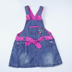 Baby Girl Jeans & Pink Flowery Dress, Different Sizes
