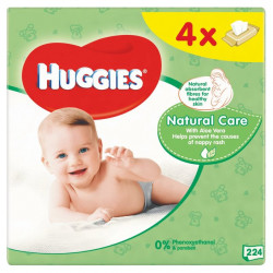 Huggies Natural Care Baby Wipes 4 x 56 per pack