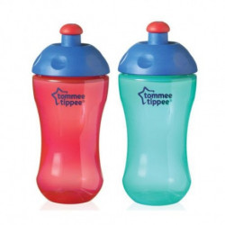 Tommee Tippee, Free Flow Sport Bottle, Red or Blue