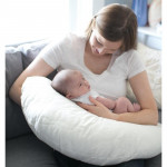 Dr Brown's Gia Angled Nursing Pillow with Cotton Cover - Black & White Dots