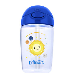 Dr Brown's Milestones Straw Cup with Lid, 350 ml, Blue