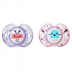 Tommee Tippee Fun Style Soothers 0-6 months, for Girls