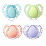 Tommee Tippee Essential Basics Cherry Latex Soothers 0-6 months (2-pack) (Colours May Vary)