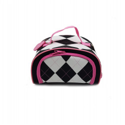 Hallmark Argyle Lunch Box, White and Black