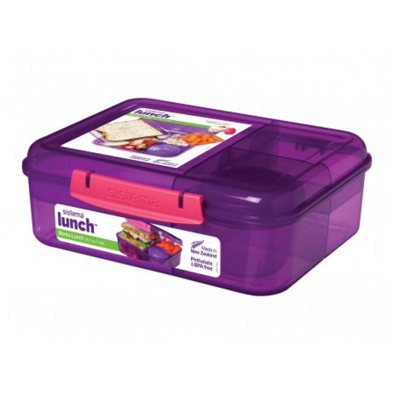 Sistema Bento Colored Lunch Box 1 65l School