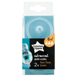 Tommee Tippee Advanced Anti-Colic Medium Flow Teats, 2 Count, +6 months