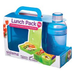Sistema Lunch Cube Max and Bottle Lunch Pack