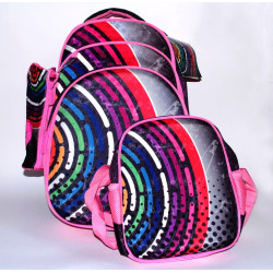 Glossy Bird Backpack Set of 3 pieces, Multi-color, 45 cm