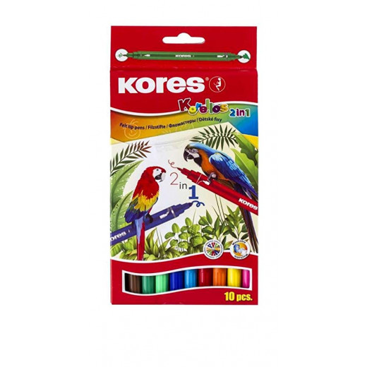Kores Dual Tip Markers / Set of 10 Colors