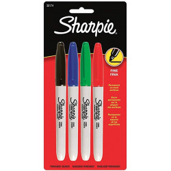Sharpie Markers Fine / Set of 4 Colors